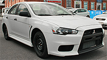 New Mitsubishi Lancer Evolution X RS parts